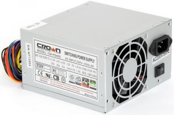 Блок питания ATX 400 Вт Crown CM-PS400W ATX 12В 2.2 цены