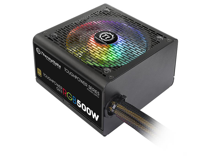 Блок питания Thermaltake Toughpower GX1 RGB 500W (PS-TPD-0500NHFAGE-1) v.2.4,A.PFS,80 Plus Gold,Fan 12 cm,Retail блок питания thermaltake toughpower grand rgb 750w ps tpg 0750fpcgeu r v2 4 a pfc 80 plus gold fan 14 см fully modular retail