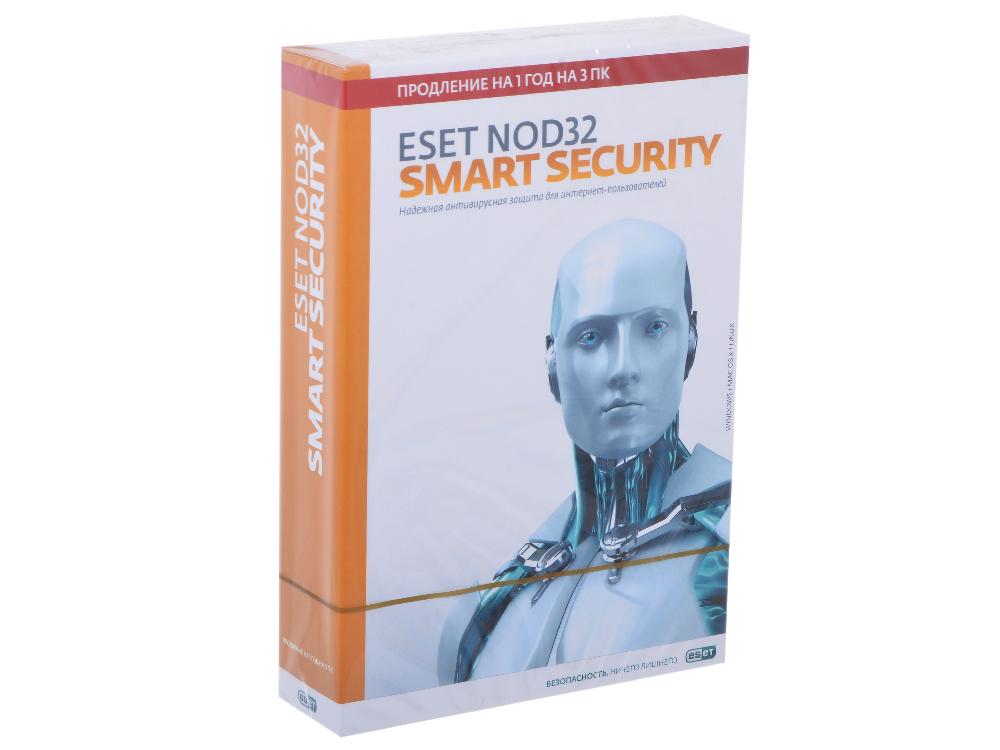 Коробка продления ESET NOD32 Smart Security - продление лицензии на 1 год на 3ПК (NOD32-ESS-RN(BOX3)-1-1) программное обеспечение eset nod32 продление 20 месяцев или новая 1 год 3 пк nod32 ena 2012rn box 1 1