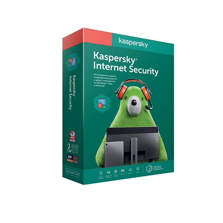 Программное обеспечение Kaspersky Internet Security Multi-Device Russian Edition. 2-Device 1 year Base Box (KL1941RBBFS) фото