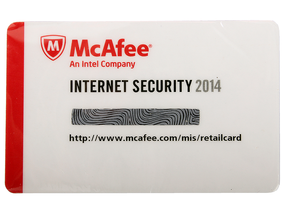 Программное обеспечение McAfee Internet Security OEM 2014 - Card - 1USER (MIS149EC1RAO) программное обеспечение
