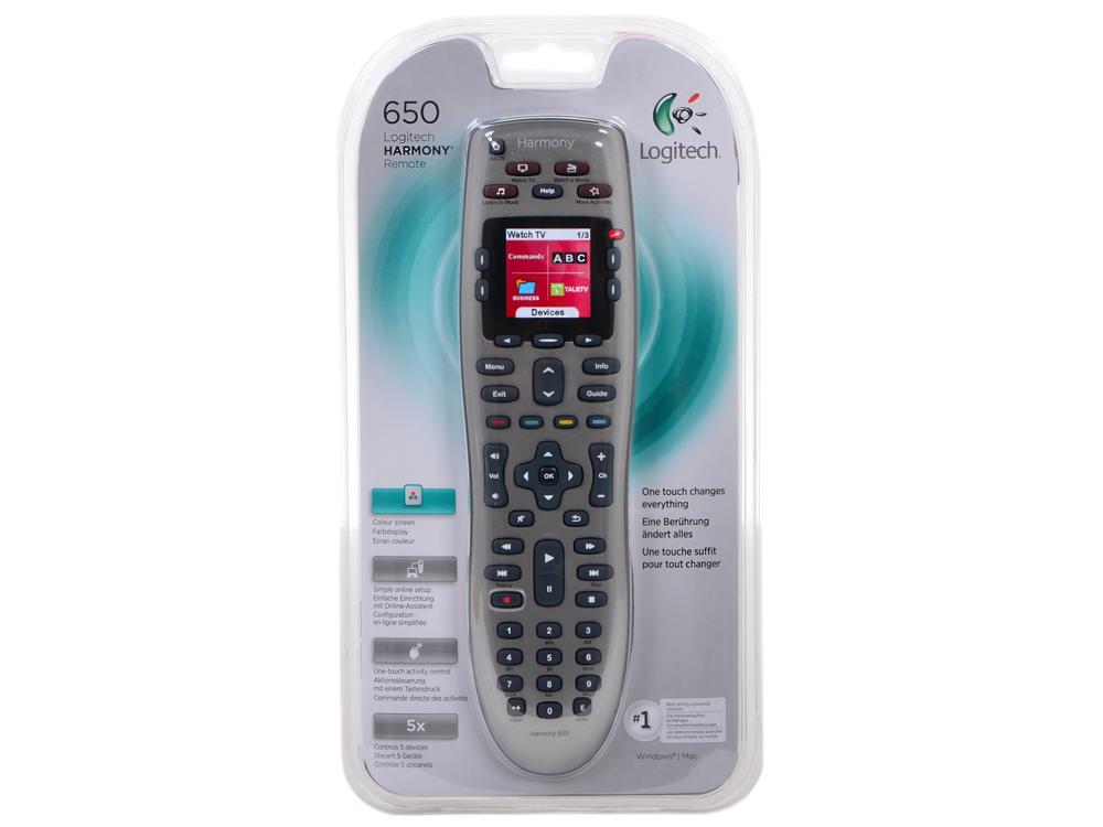 Пульт ДУ Logitech Harmony 650 (915-000161) телефон 915