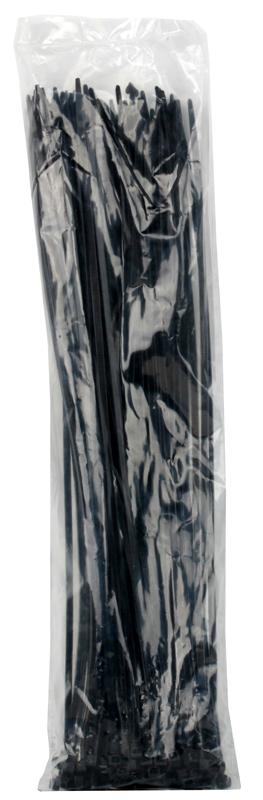 Стяжка нейлон 5x400мм, черная (100шт./уп.) недорого