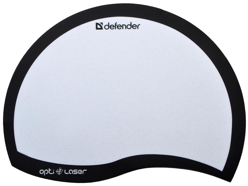 лучшая цена Коврик для мыши Defender пластиковый Ergo opti-laser Black (черный) 215х165х1.2 мм