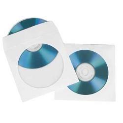 спальные конверты Конверты Hama для CD/DVD, бумажные с прозрачным окошком, 25 шт