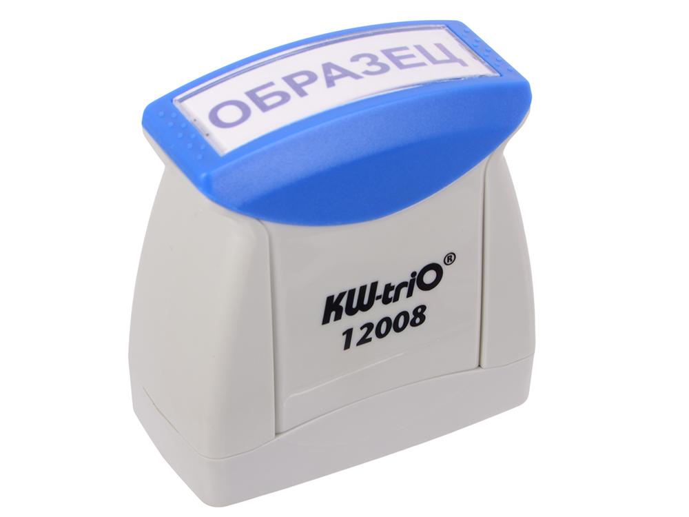 Штамп KW-trio 12008 со стандартным словом ОБРАЗЕЦ пластик цвет печати ассорти штамп kw trio 12006 со стандартным словом зарегистрировано пластик цвет печати ассорти