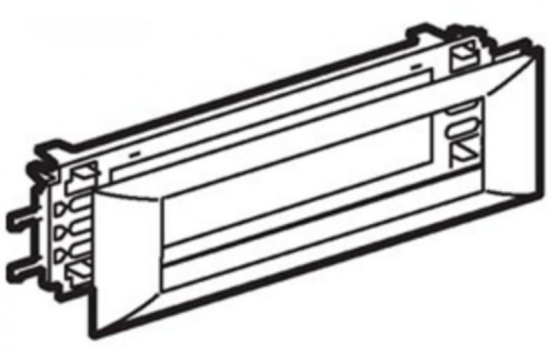 Картинка для Суппорт Legrand Mosaic для DLP кабелей с шириной крышки 65мм 8 модулей 10958