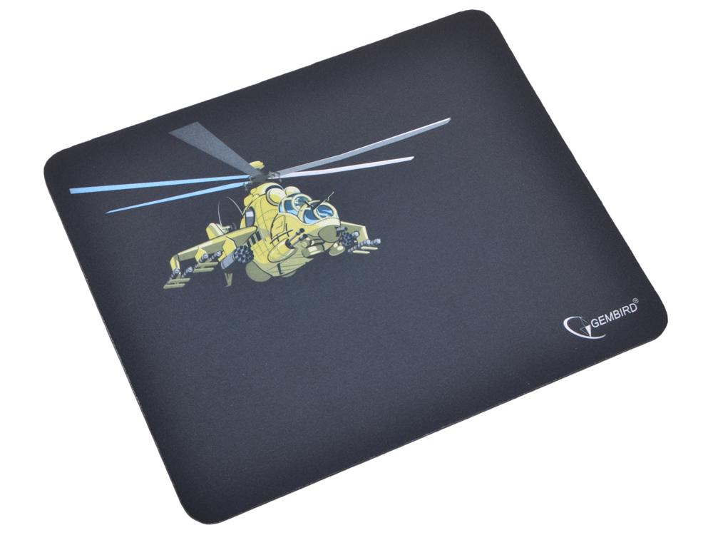 Коврик для мыши Gembird MP-GAME9, рисунок- вертолет, размеры 250*200*3мм коврик для мыши gembird mp game23 рисунок survarium размеры 250 200 3мм ткань резина оверлок