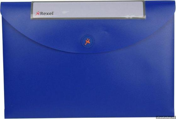 Папка Rexel Optima A4 40мм для документов пластик синий 3шт 2102480 степлер rexel gazelle серебристо фиолетовый