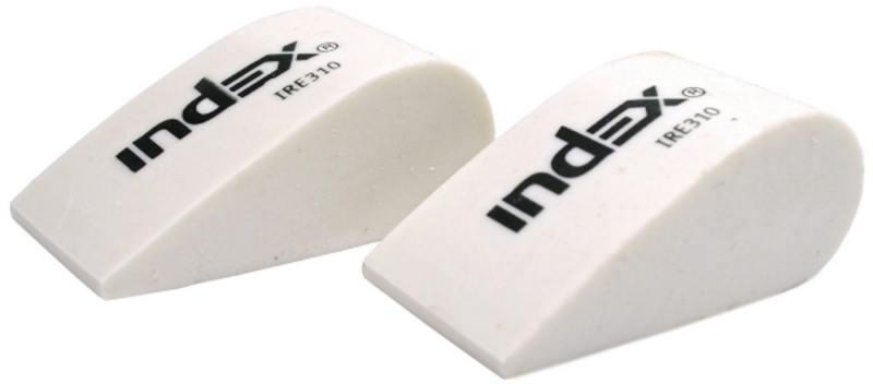Набор ластиков, форма капля, синтетический каучук, белый, 50х22 мм, 2 шт. набор ластиков factis 24r 2 2 шт