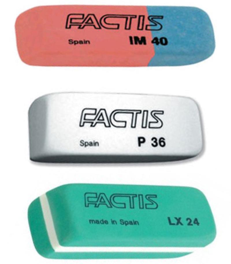 Набор ластиков Factis IM40, P36, LX24 3 шт прямоугольный IM40/P36/LX24