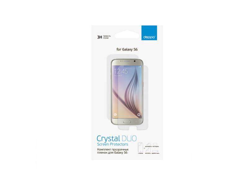 Защитная пленка Deppa для Samsung Galaxy S6 прозрачная 61369 deppa film cristal защитная пленка для samsung galaxy s8 глянцевая
