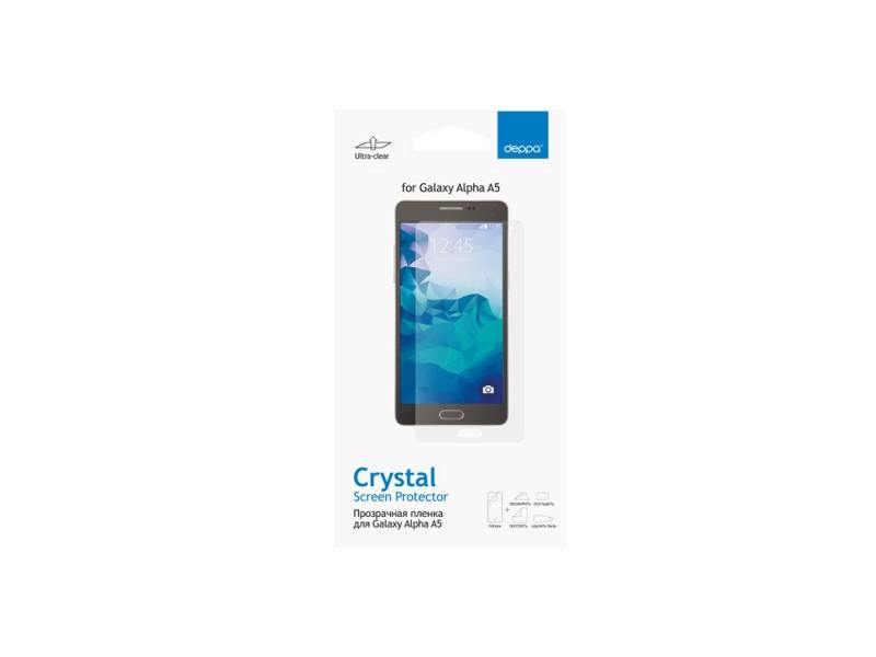 Защитная пленка Deppa для Samsung Galaxy Alpha A5 прозрачная 61366 защитная плёнка для samsung galaxy a5 2016 sm a510f front