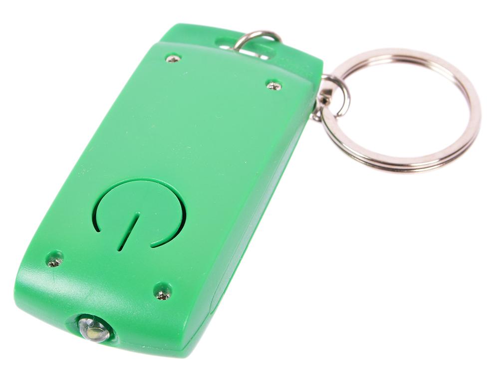 Брелок-фонарик, зеленое основание, зеленый корпус, индивид. стикер фонарик брелок camelion c led08 1r