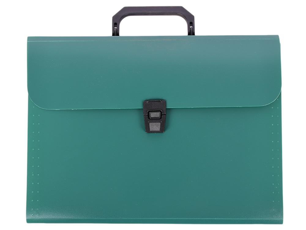 Папка-портфель, 13 отделений, А4, зеленая цена 2017