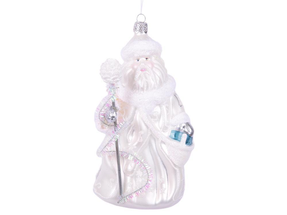 все цены на Елочные украшения Winter Wings Дед Мороз в Белом 16,5 см 1 шт белый стекло N07846 онлайн