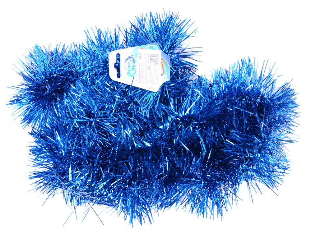 Новогоднее украшение Winter Wings мишура одноцветная 10х200 см N09107/CИН ель winter wings n04127 90 см световод с разноцветными супер яркими лампами 100 ламп led 100 веток