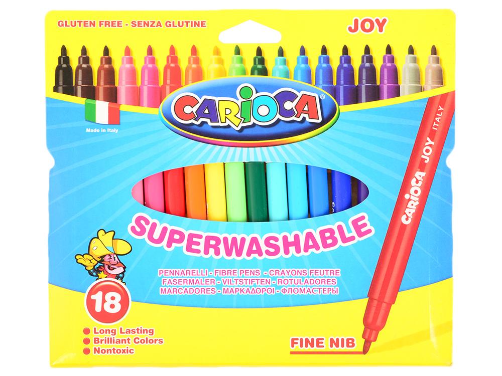 Набор фломастеров Universal CARIOCA JOY 2 мм 18 шт разноцветный 40555/18 набор фломастеров carioca neon 8 шт 42785