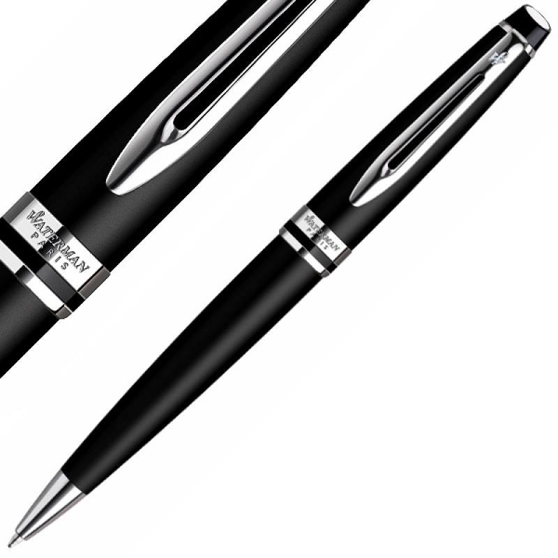 Ручка шариковая EXPERT Matte Black CT, мат.черный корпус, хром. детали, синие чернила, М WAT-S095190 цена