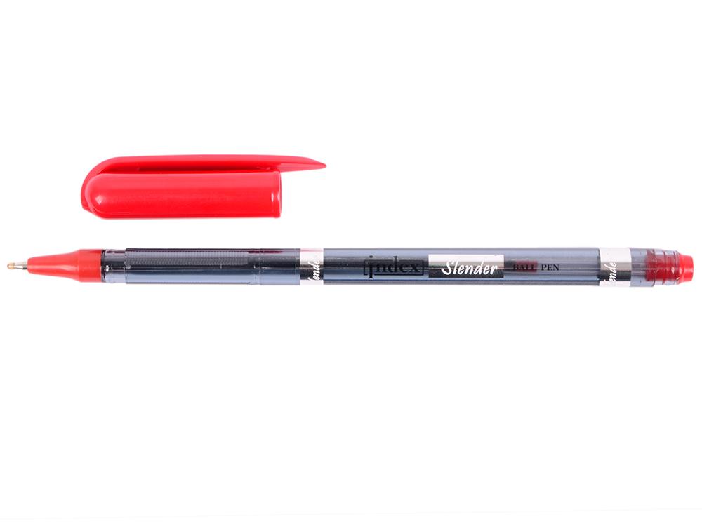 Шариковая ручка Index Slender красный 0.5 мм IBP311/RD IBP311/RD шариковая ручка index непрозрачный трехгранный корпус красные масляные чернила 0 7 мм ibp4150 rd