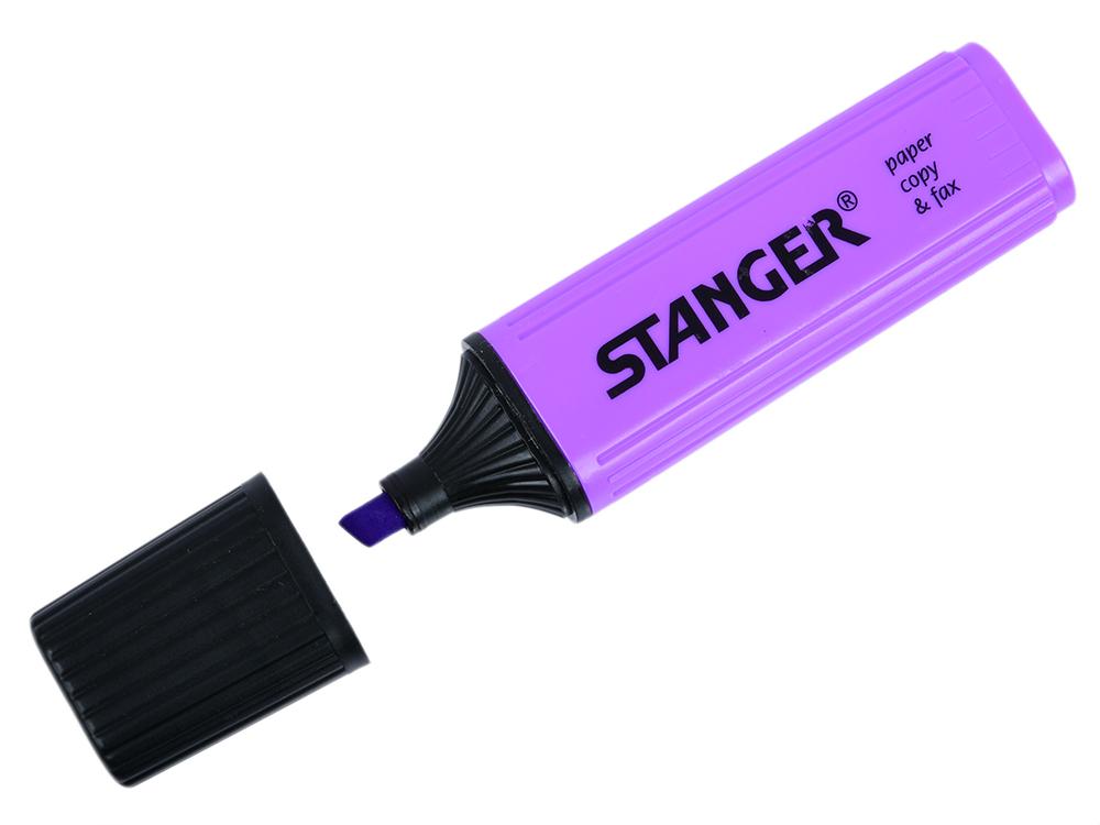 купить Текстмаркер Stanger 2000-11-18 1 мм фиолетовый по цене 30 рублей