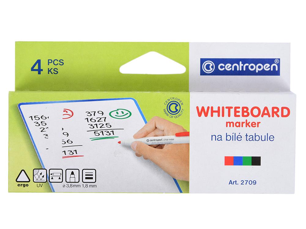 цена на Набор маркеров для доски Centropen 2709/4PVC 2 мм 4 шт разноцветный 2709/4PVC