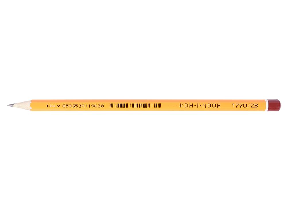 Карандаш чернографитный Koh-i-Noor Black Sun 1770/2B лакированный корпус 1770/2B цены