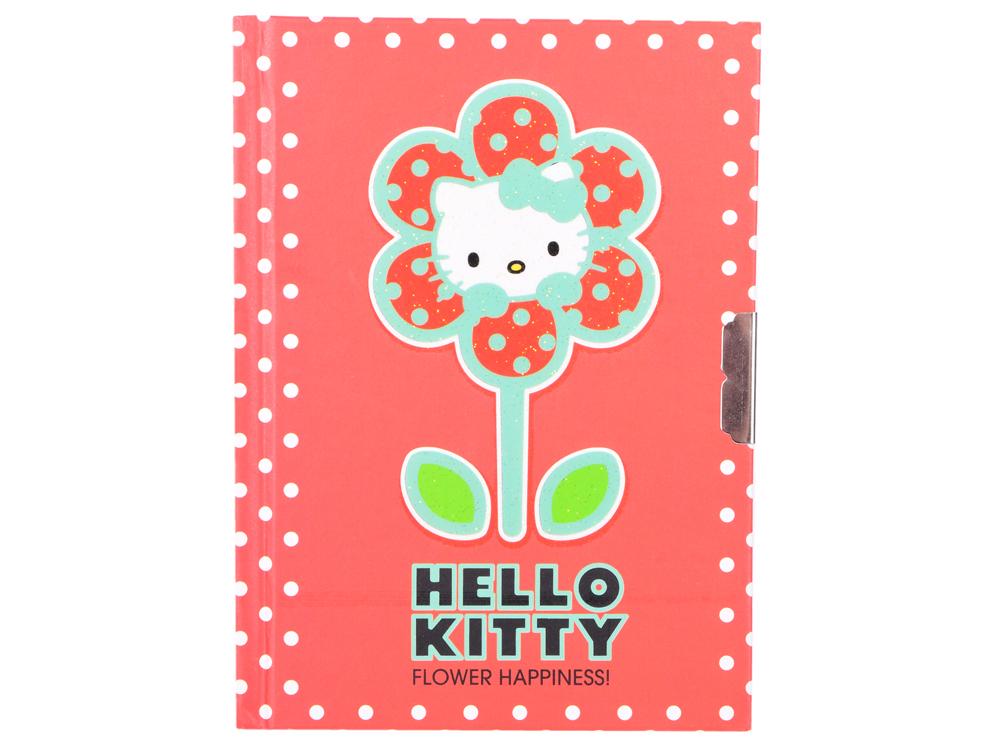 Блокнот с замком ACTION!, Hello Kitty, твердая обложка, пакет HKO-FN64/4118 блокнот action fancy русалочка a6 40 листов fn64 4117