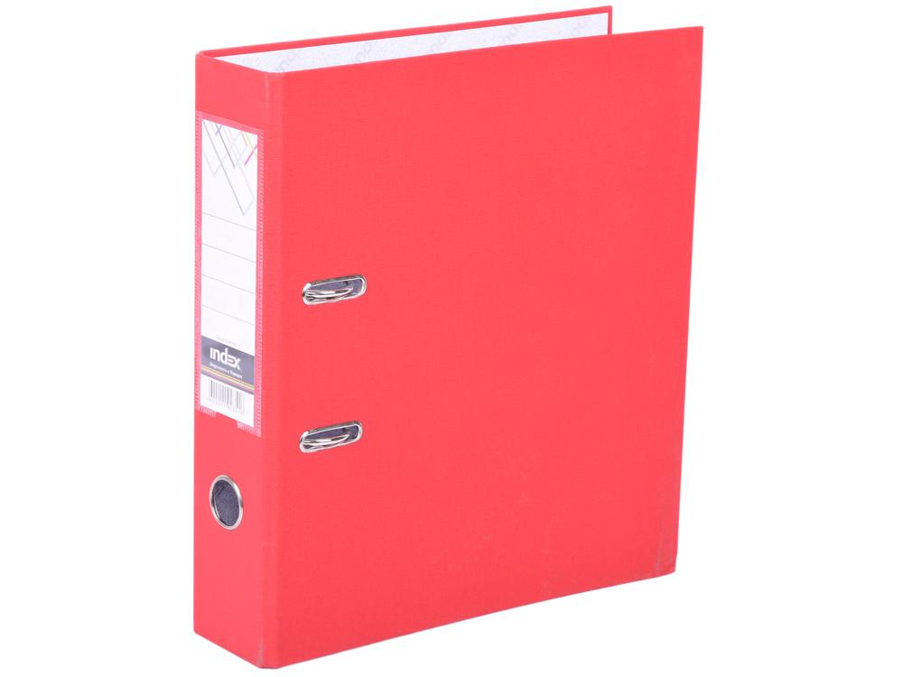 Папка-регистратор с покрытием PVC, 80 мм, А4, красная IND 8/50 PP RD цена 2017