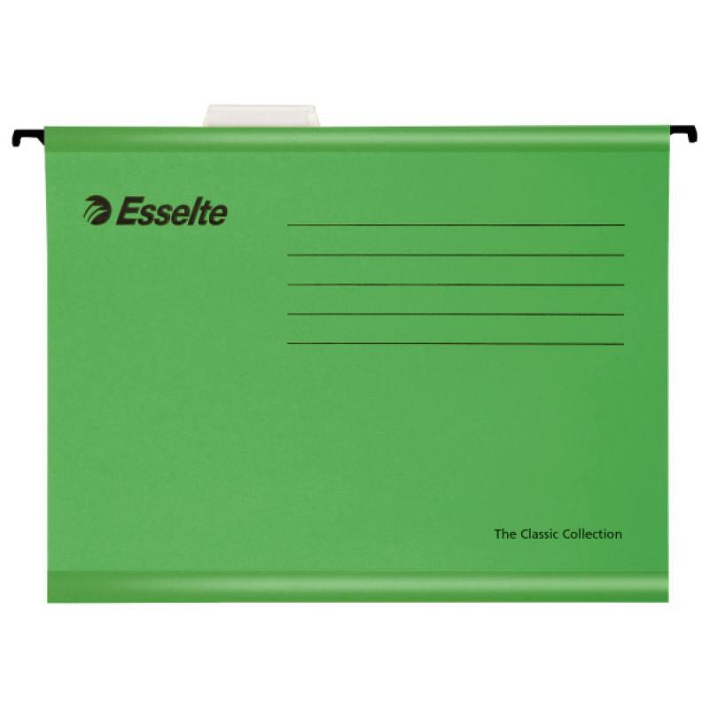Подвесная папка ESSELTE PENDAFLEX PLUS FOOLSCAP, 25 шт, зеленый, цена за 1шт 90337 папка вкладыш esselte 56171