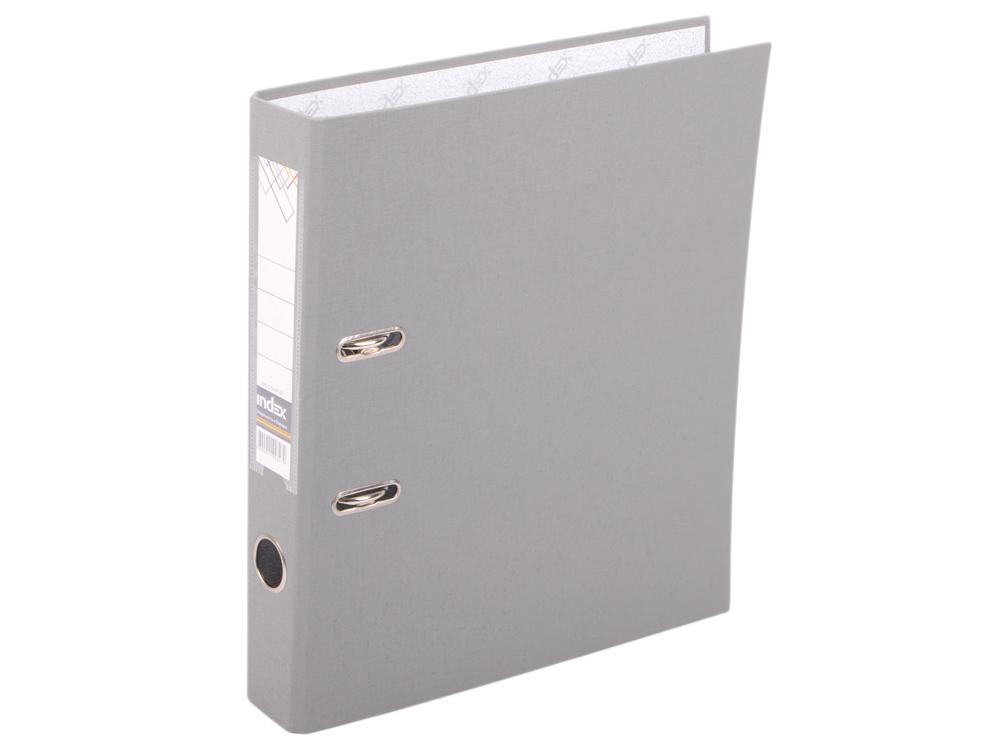 Папка-регистратор с покрытием PVC, 50 мм, А4, серая IND 5/50 PP GY дырокол index metallic 25 листов imp320 gy imp320 gy