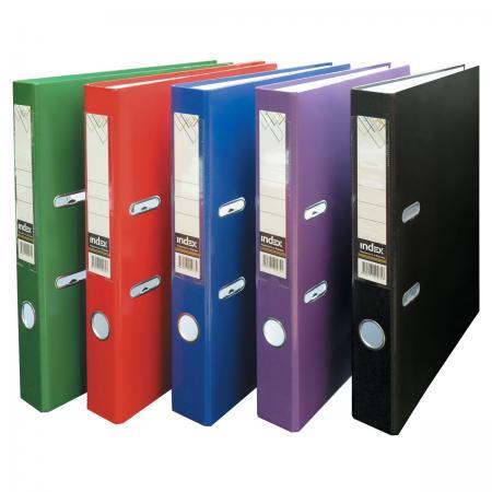 цена на Папка-регистратор из ламинированного картона, 50 мм, А4, черная IND 5LA BL-DS