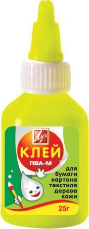 Клей ПВА-М, 25 гр, в цветном флаконе 20С1350-08 клей пва луч 85 гр