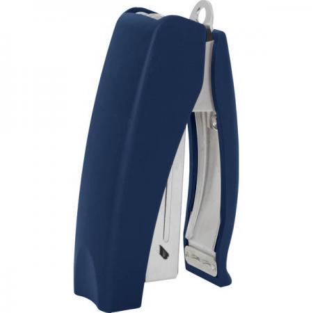 Cтеплер, скоба № 24/6, на 20 листов, вертикальный, прорезиненный корпус, антистеплер, синий степлер index ims310 gy 20 листов
