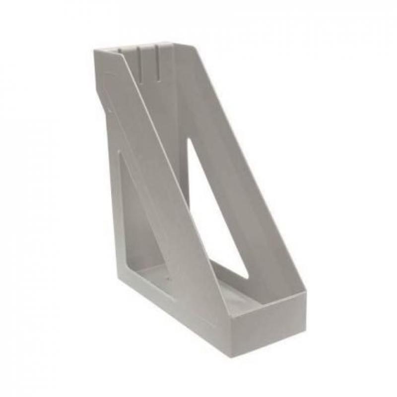 Лоток для бумаг БАЗИС, вертикальный , серый ЛТ31 attache лоток для бумаг яркий офис вишня