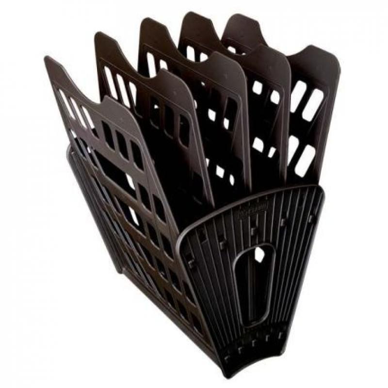 Лоток для бумаг, вертикально-горизонтальный, пятисекционный, черный Лт-91 лоток для бумаг вертикально горизонтальный семисекционный черный лт 41