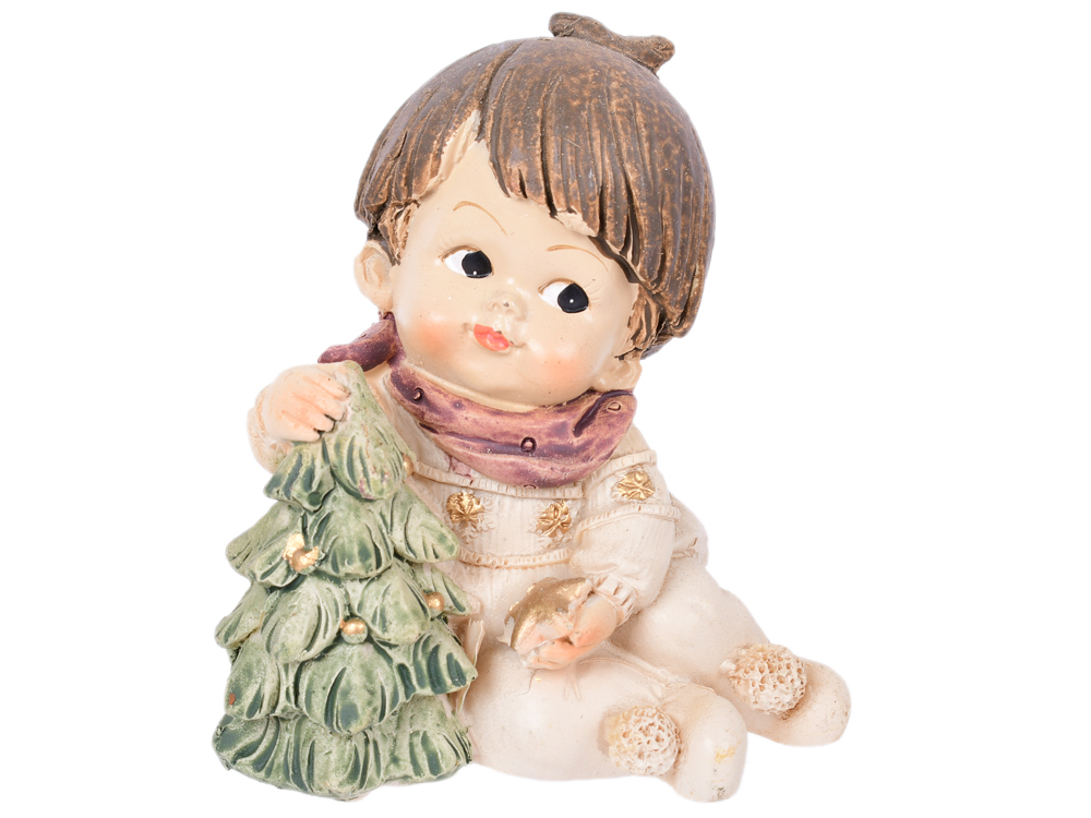 купить Сувенир Winter Wings Малыш С Подарком, 6 х 5,2 х 6,6 см полирезин N162708 дешево