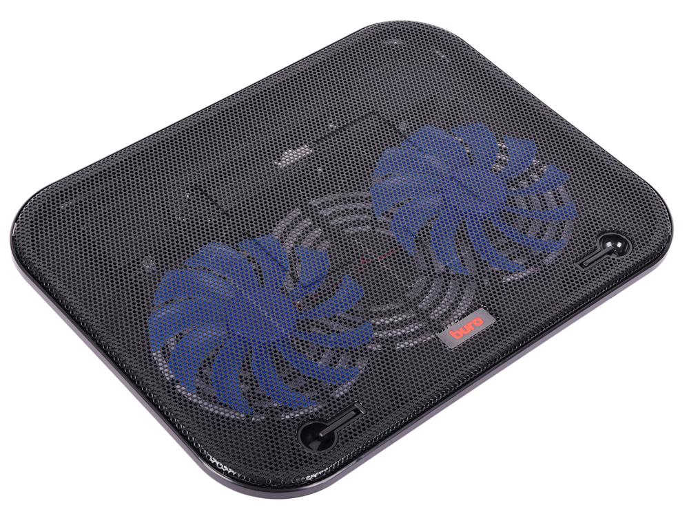 Подставка для ноутбука 14 Buro BU-LCP140-B214H металл/пластик 1100об/мин 20db черный блок питания для ноутбука buro bum 1287m90 11 переходников 90вт черный