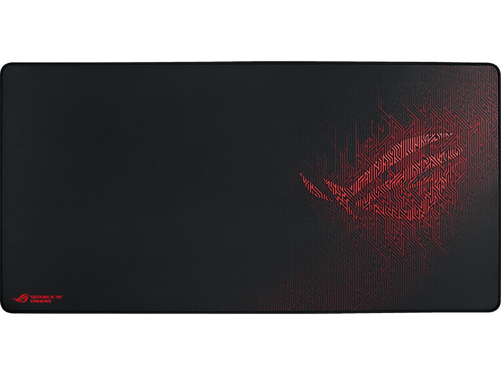 все цены на Коврик для мыши Asus ROG Sheath черный с рисунком 90MP00K1-B0UA00 онлайн