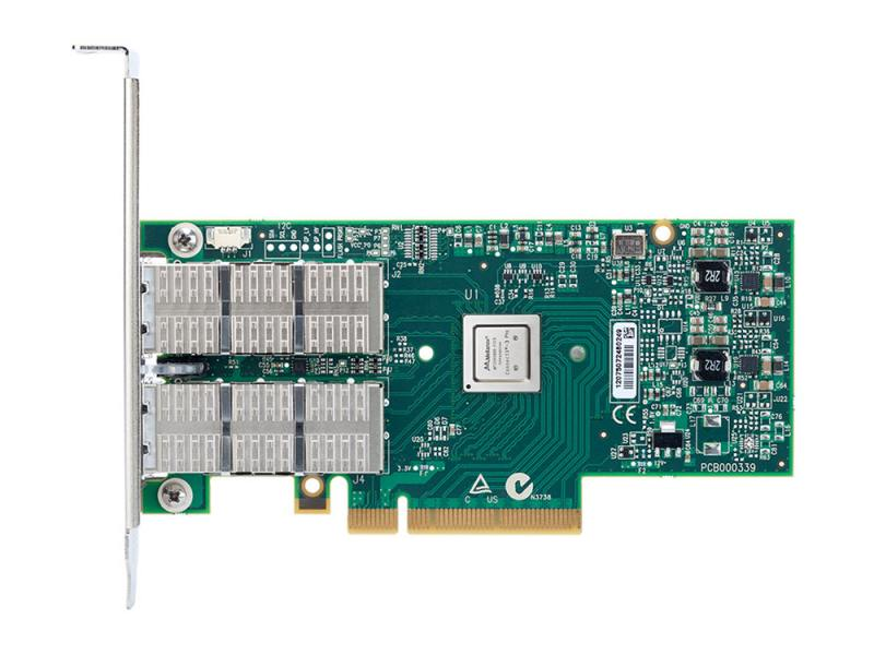 Сетевой адаптер Mellanox ConnectX-3 Pro EN network interface card 40/56GbE dual-port QSFP PCIe3.0 x8 сетевой адаптер mellanox connectx 3 pro en network interface card 10gbe single port sfp pcie3 0 x8 8gt s tall bracket rohs r6 mcx311a xcct