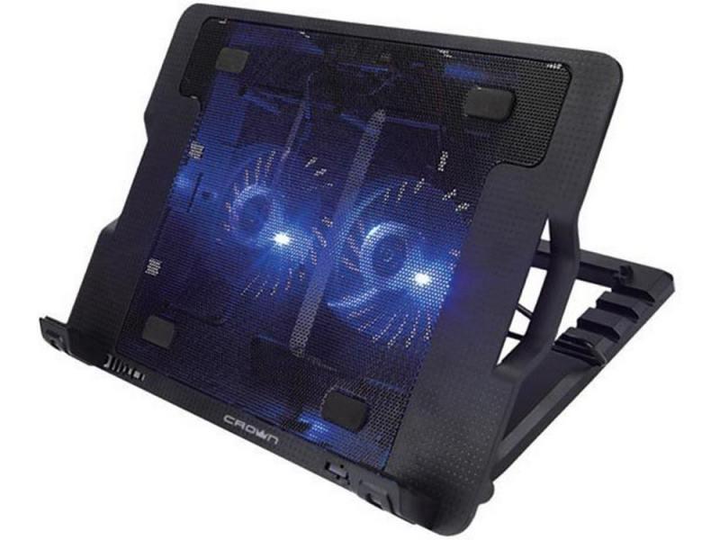 Подставка для ноутбука 15.6 Crown CMLS-940 USB 25dB черный подставка для ноутбука crown cmls k331 blue до 19 размер 410 292 29мм кулеры d140mm 1 d80mm