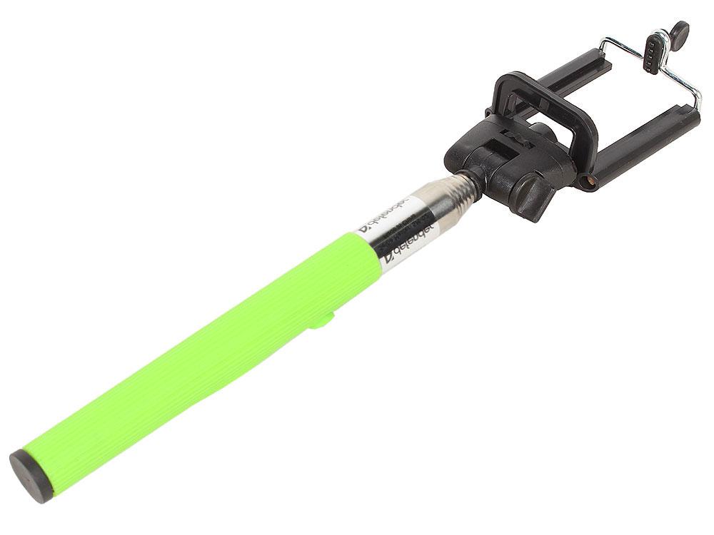 лучшая цена Монопод для селфи Defender SM-02 Selfie Master зеленый проводной, 20-98 см