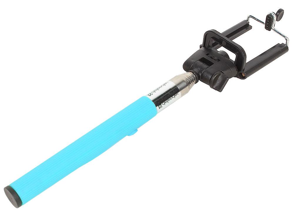 цена на Монопод для селфи Defender SM-02 Selfie Master голубой проводной, 20-98 см