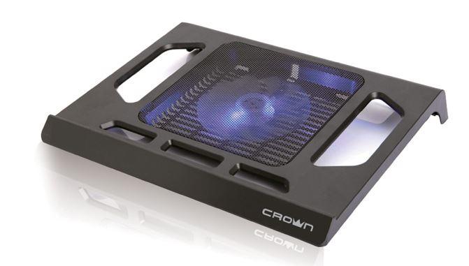 Подставка для ноутбука 15.6 Crown CMLS-910 290x350x45mm USB 450g черный подставка для ноутбука crown cmls k331 blue до 19 размер 410 292 29мм кулеры d140mm 1 d80mm