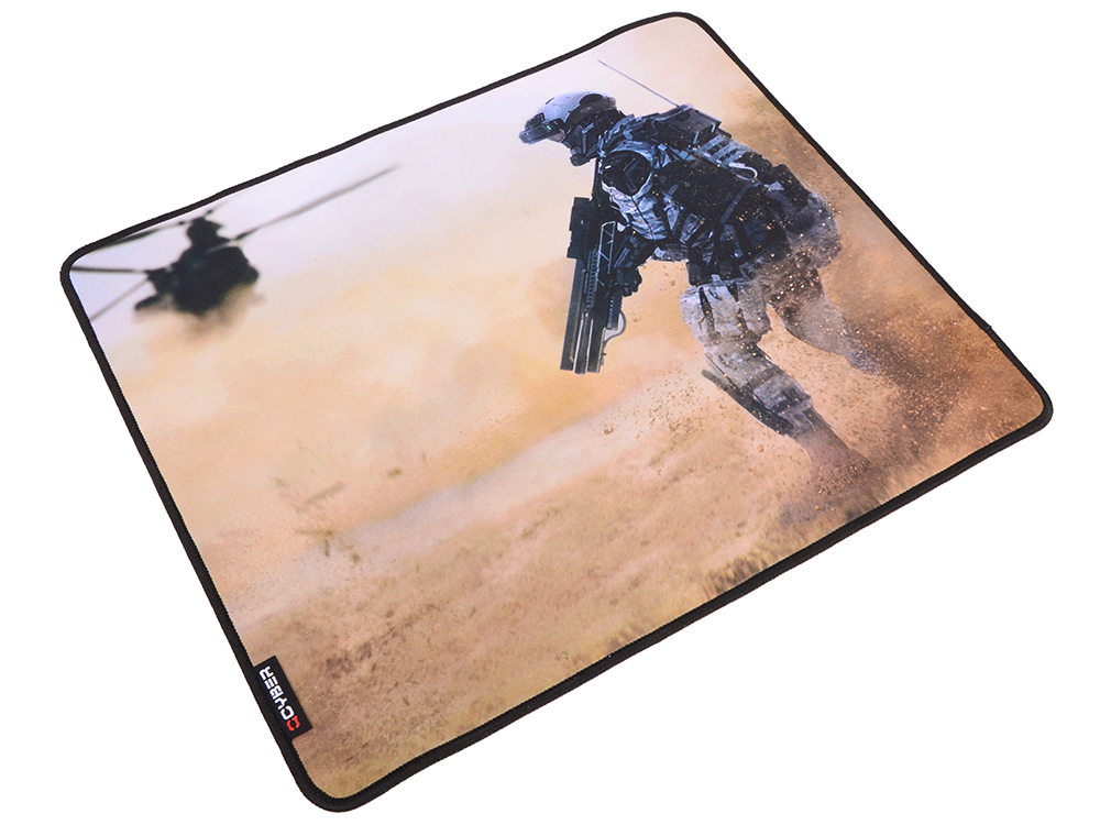 цена Коврик для мыши QCYBER SAHARA, игровая поверхность, размер 430x360x4 мм, поверхность: тонкое плетение, основа: натуральный каучук, оверлок.