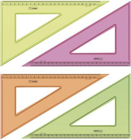 Треугольник СТАММ ТК54 23 см, флюоресц., прозр., 4 цв. цена и фото