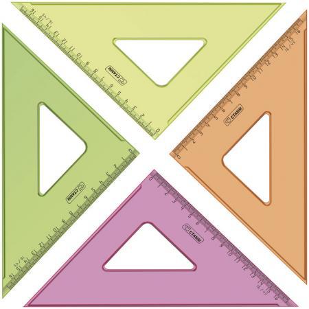 Треугольник СТАММ ТК57 16 см, флюоресц., прозр., 4 цв. цена и фото