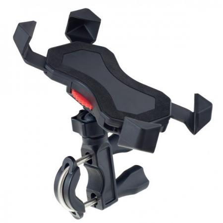 Держатель Perfeo PH-303 до 6 на руль велосипеда или штангу угловой черный цена