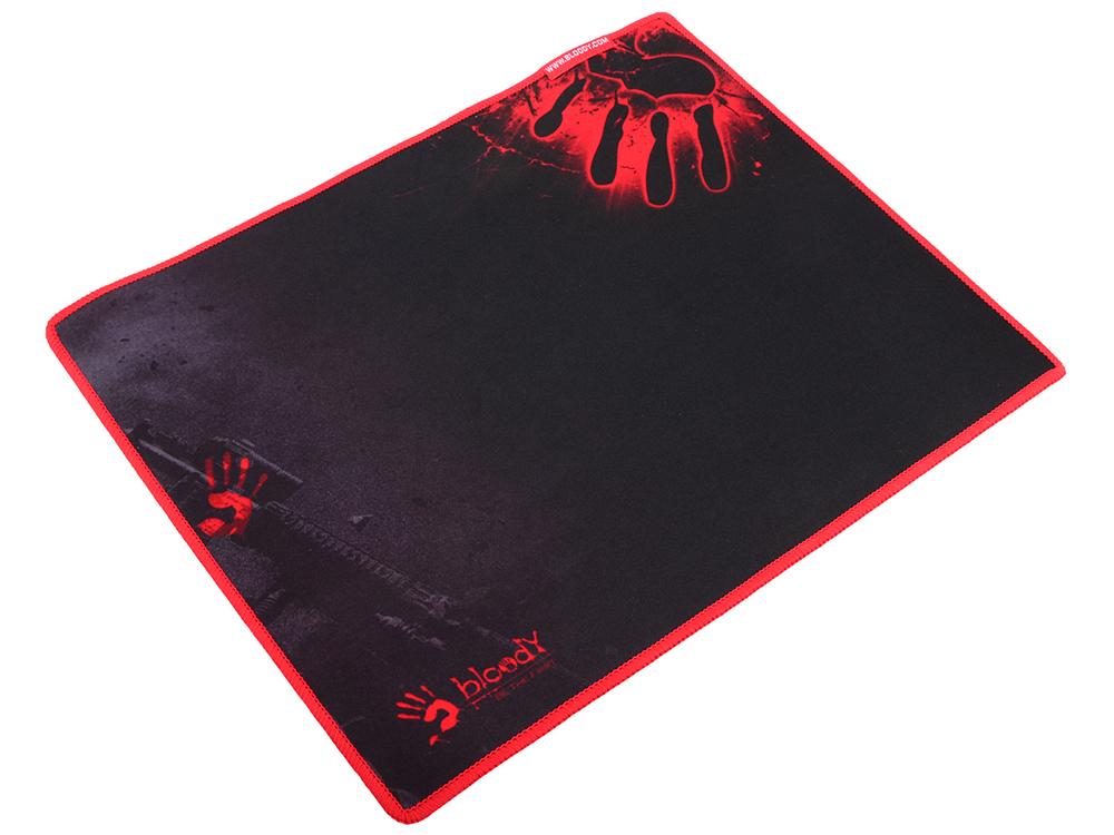 Коврик для мыши A4Tech Bloody B-081S черный/рисунок, 350х280х2мм мышь a4tech bloody q81 коврик b 081s