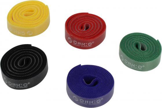 Стяжка-липучка для кабеля ORICO CBT-5S-MC, 1x5 метров, 1,5 см, ассорти (5 цветов)